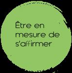 Ambcoform cercle vert etre en mesure de saffirmer 2 148x150 - Participer à un atelier